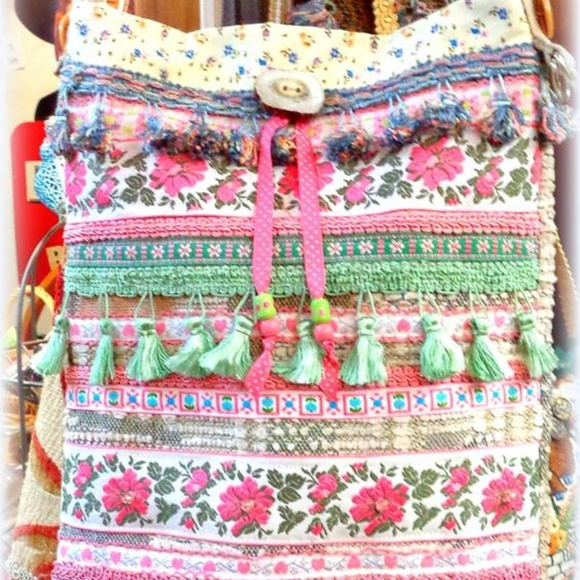 Suzannah Maria Designs Handbags - Pretty In Pink Handmade Artsy Boho Bag